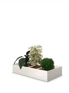 Plant and flower container unit