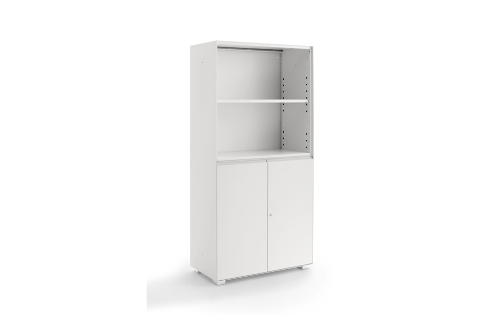 Unit with open cabinet